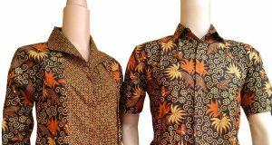 Model baju batik kantor lengan panjang