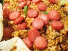 cara membuat nasi goreng sosis