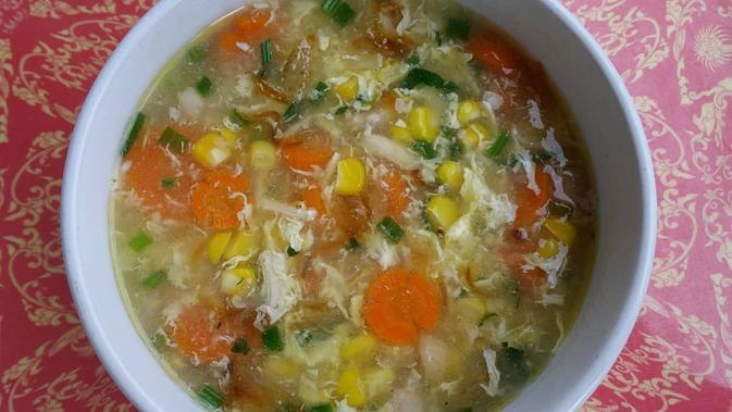 resep sup jagung telur kental
